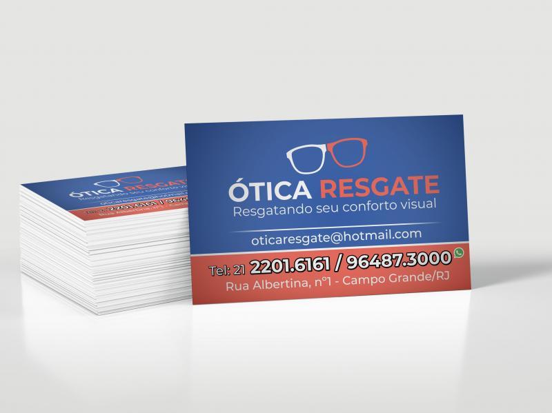 Cartão de Visita - Papel 250g/m2 - 4/0