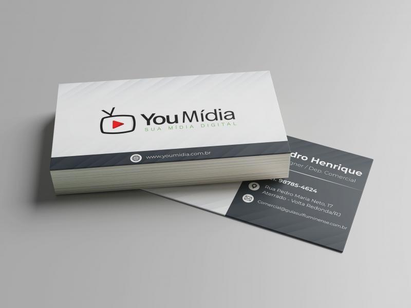Cartão de Visita - Papel 300g/m2 - 4/4